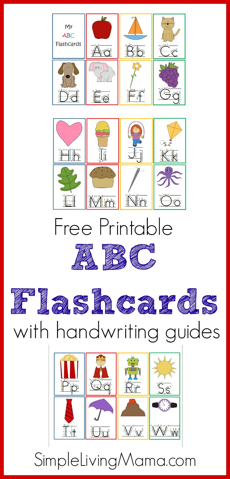 Printable Abc Flashcards - Homeschool Printables For Free - Free Printable Abc Flashcards With Pictures