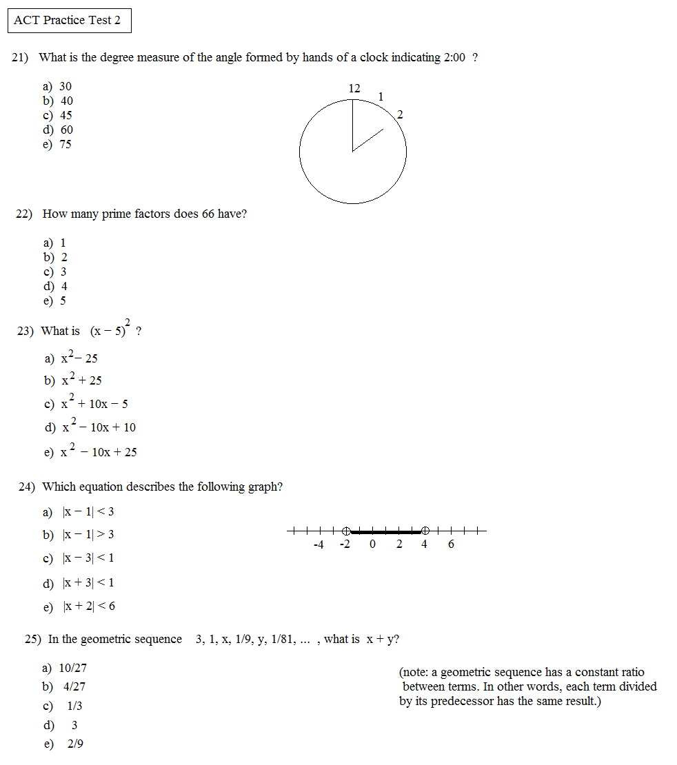 Printable Act Practice Tests Inspirational Math Worksheet Prep - Free Printable Act Practice Worksheets