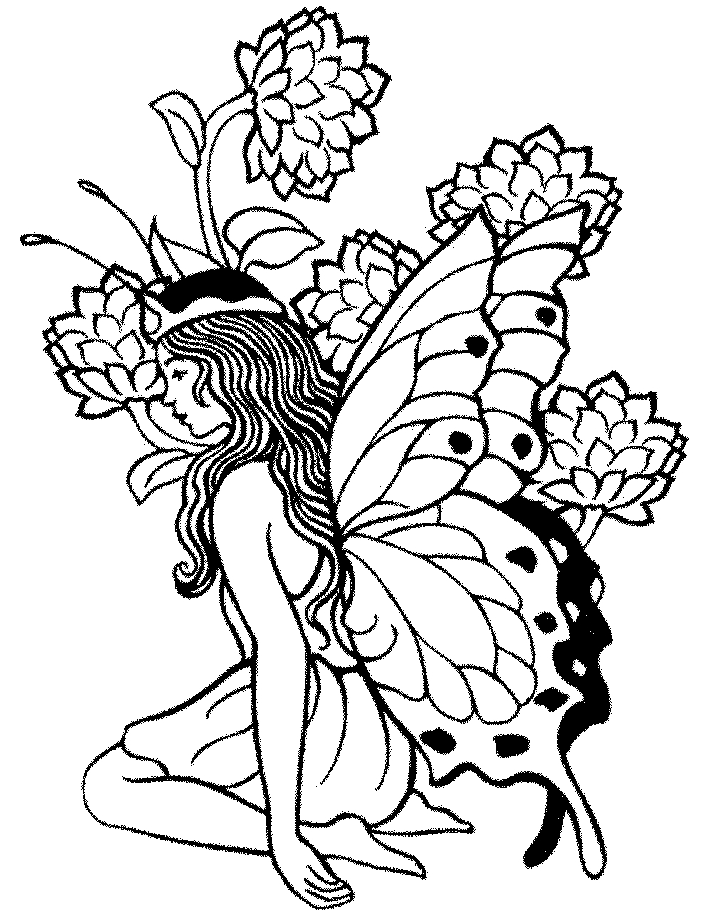 Printable Adult Coloring Pages Fairy - Coloring Home - Free Printable Fairy Coloring Pictures