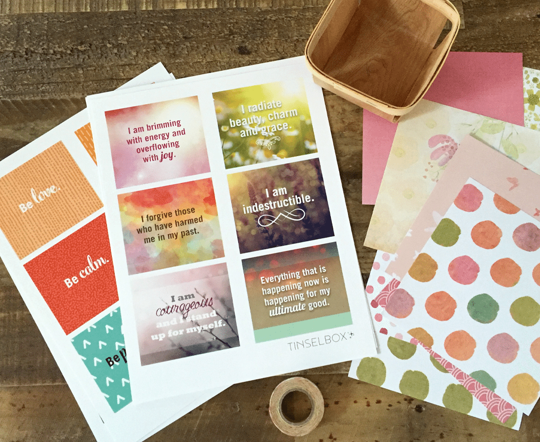 Printable Affirmation Cards: Pamper Your Self Esteem - Tinselbox - Free Printable Positive Affirmation Cards
