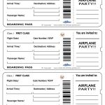 Printable Airplane Boarding Pass Invitations   Coolest Free   Free Printable Airplane Template