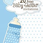 Printable Baby Shower Invitations   Free Printable Baby Registry Cards