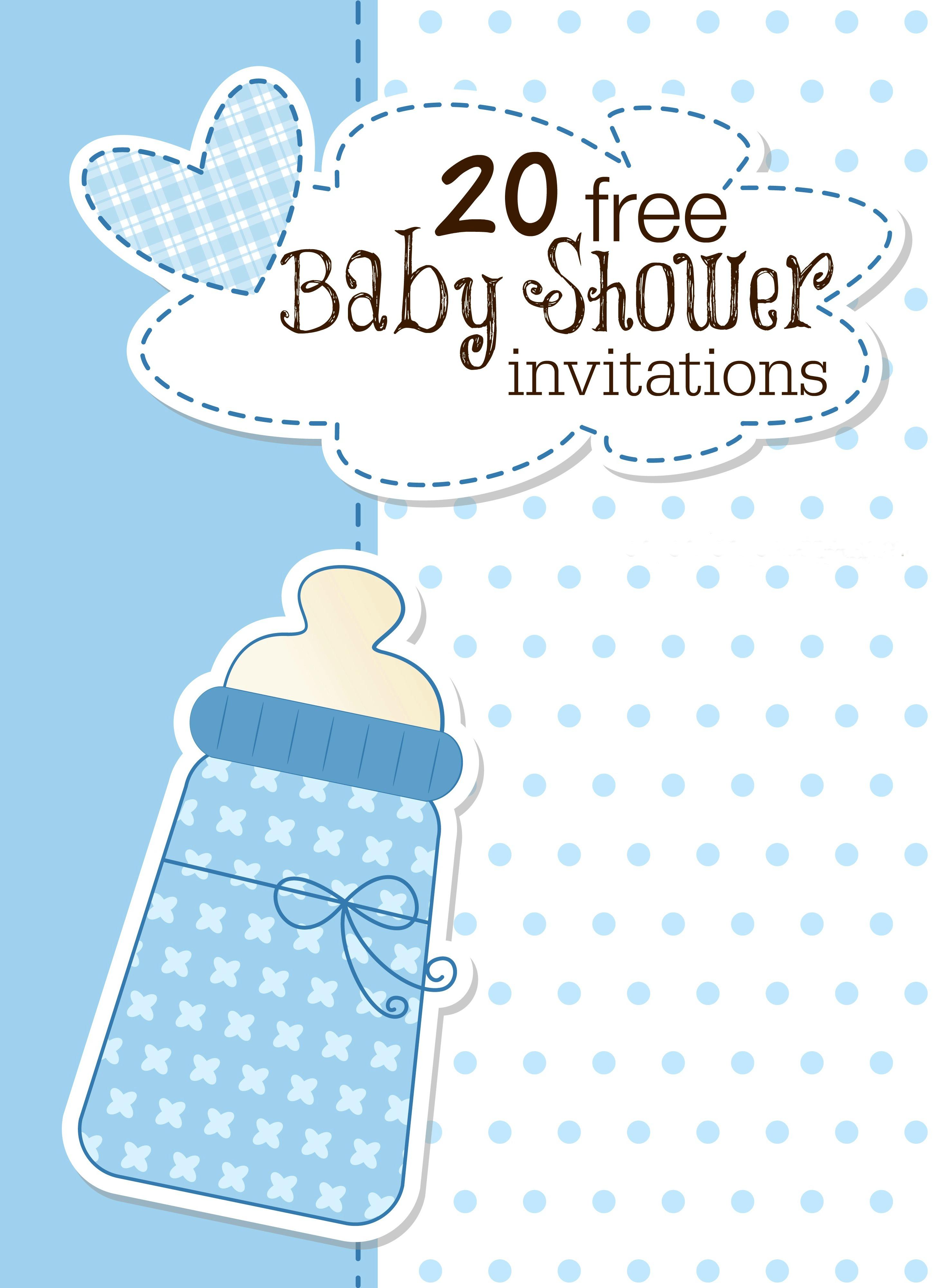 Printable Baby Shower Invitations - Free Printable Twin Baby Shower Invitations