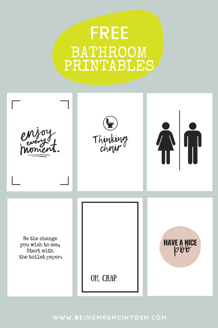 Printable Bathroom Signs | Being Mrs Mcintosh - Free Printable Bathroom Pictures