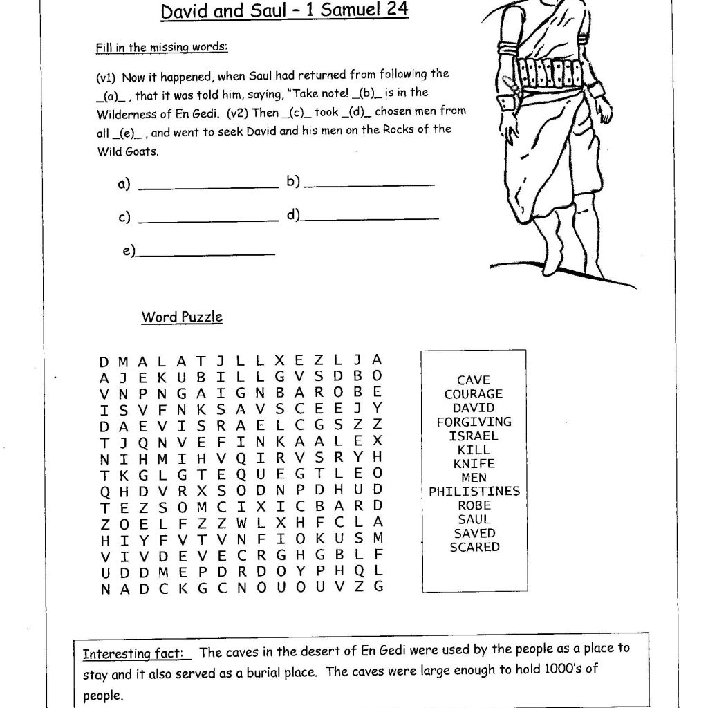 Printable Bible Study Worksheets Lessons For Youth Free Children's - Free Printable Children's Bible Lessons Worksheets