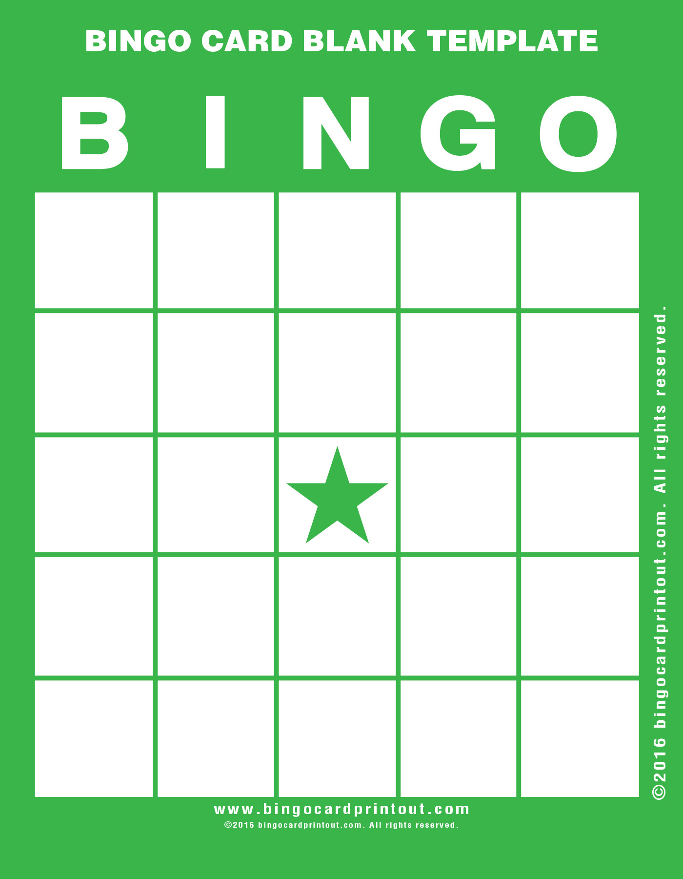 Printable Bingo Cards Template | Download Them Or Print - Printable Bingo Template Free