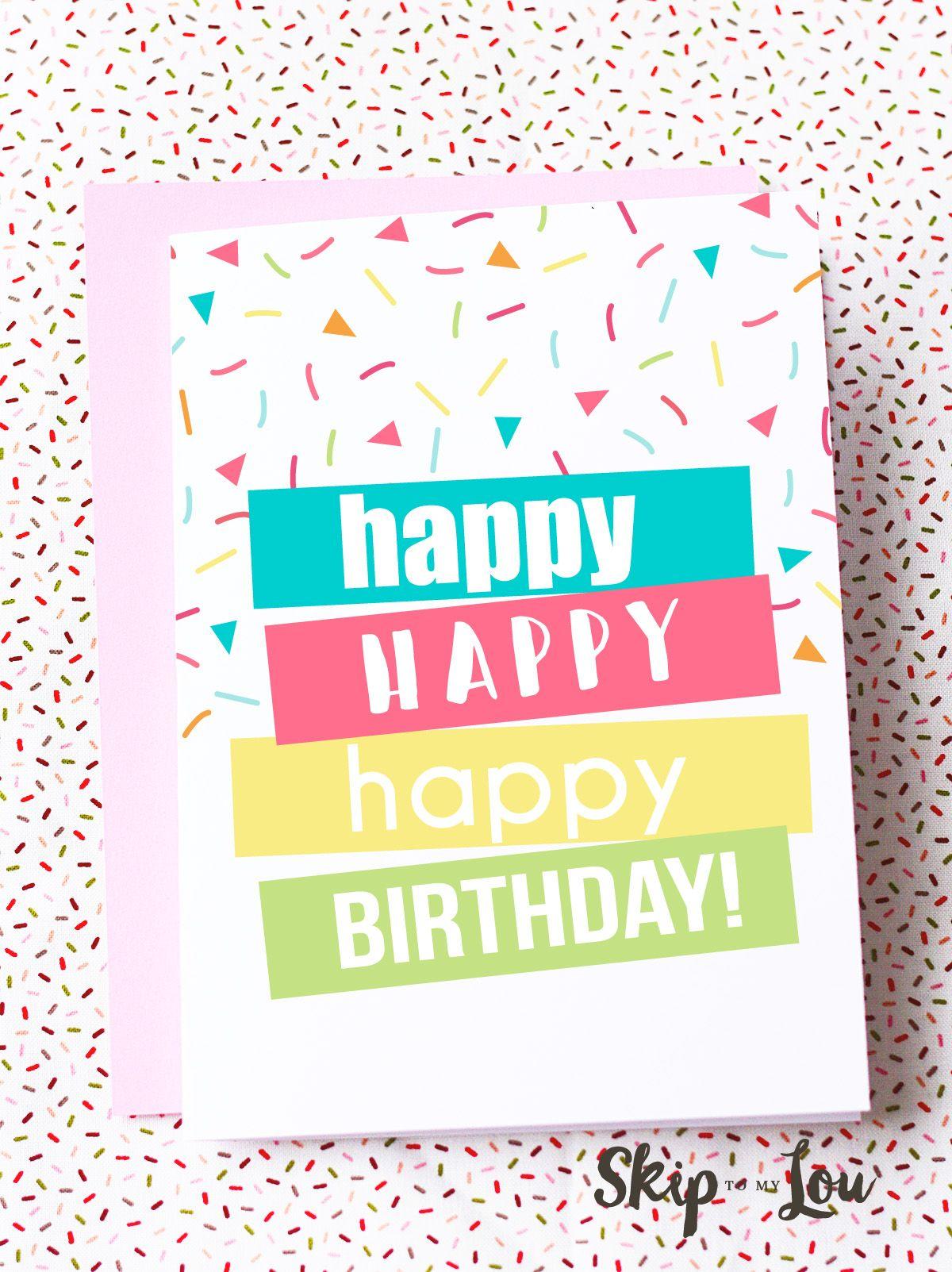 Printable Birthday Cards | Getting Crafty & Diy | Cards, Birthday - Free Printable Birthday Cards For Wife