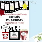 Printable Birthday Party Invitations Movie Theme | Movie Party   Movie Birthday Party Invitations Free Printable