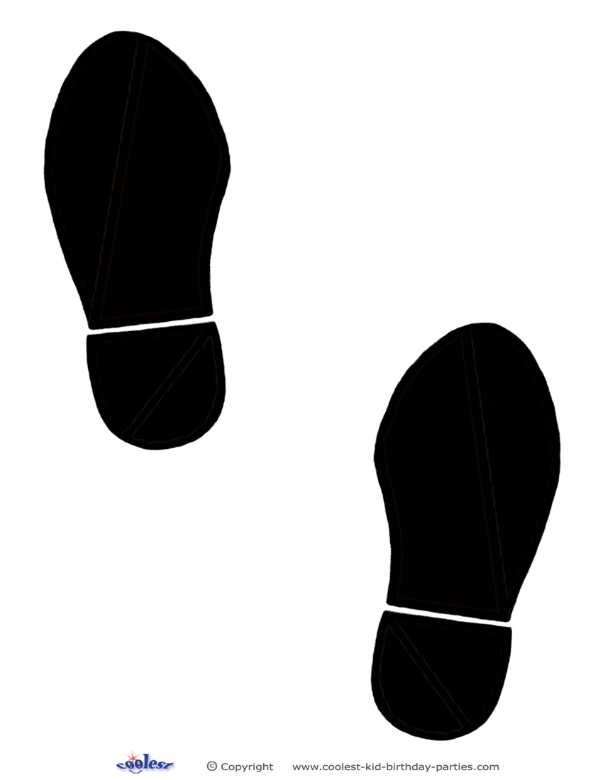 Printable Black Footprints - Free Printable Footprints