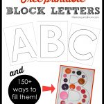 Printable Block Letters And Over 150 Ways To Fill Them!   The   Free Printable Large Uppercase Alphabet Letters