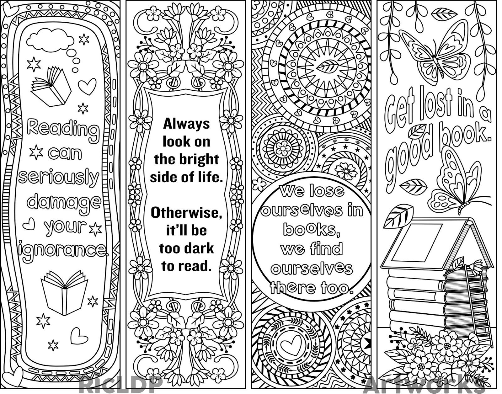 Printable Bookmark Template - Blank Bookmark Templates Make Your Own - Free Printable Blank Bookmarks