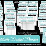 Printable Budget Planner/finance Binder Update   All About Planners   Free Printable Budget Binder Worksheets