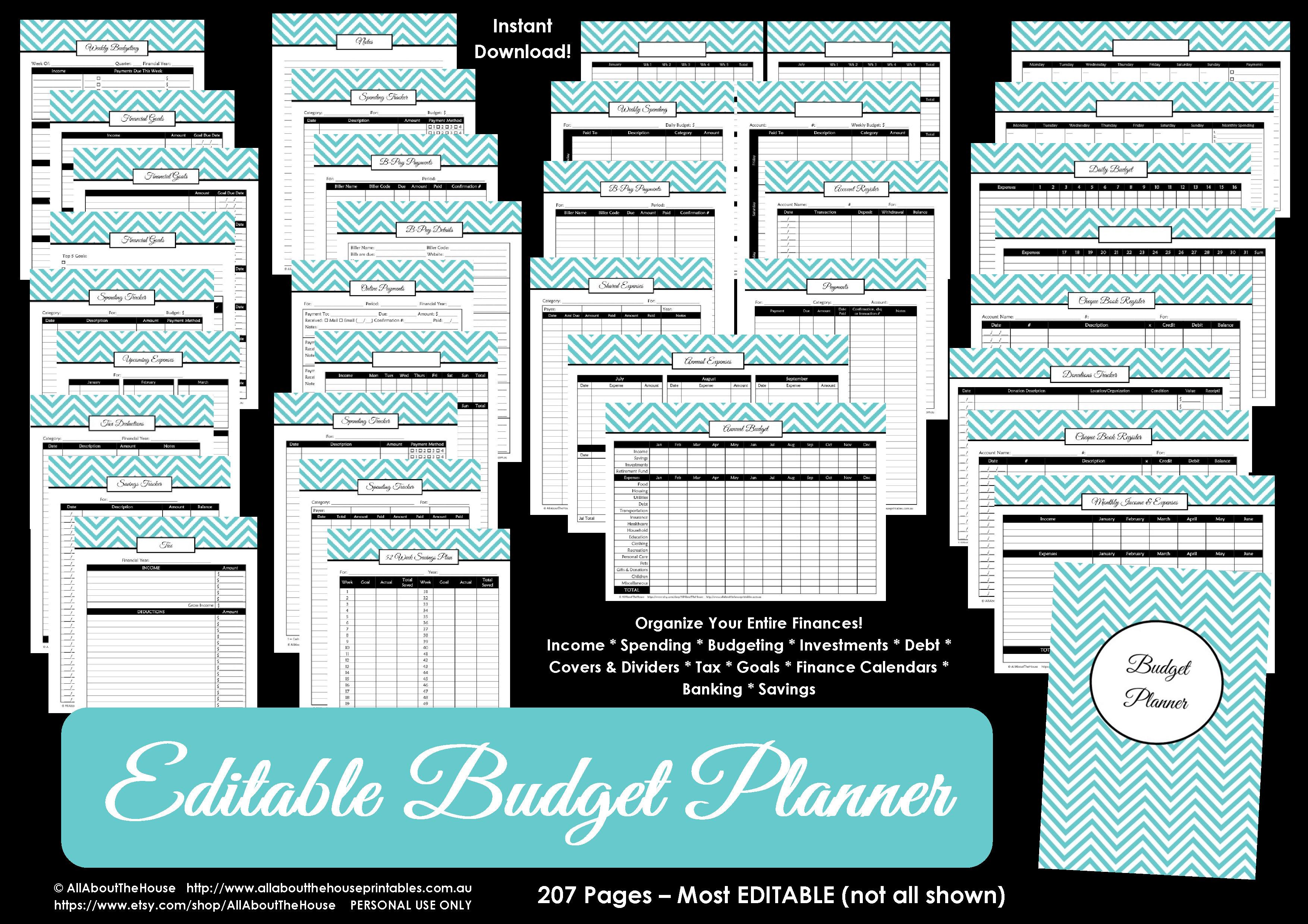 Printable Budget Planner/finance Binder Update - All About Planners - Free Printable Budget Binder Worksheets