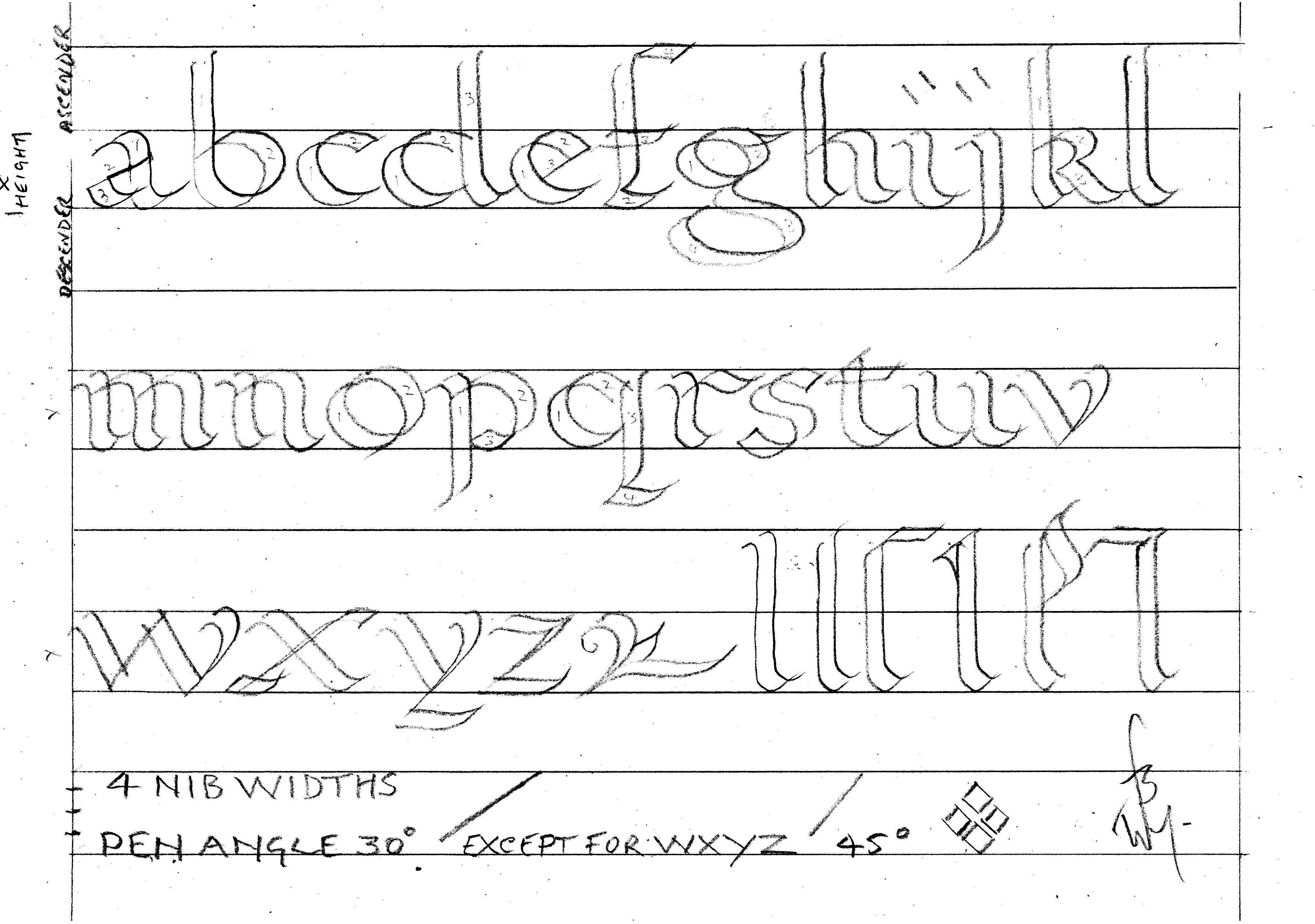 Printable Calligraphy Practice Worksheets | Bill's Space - Calligraphy Practice Sheets Printable Free