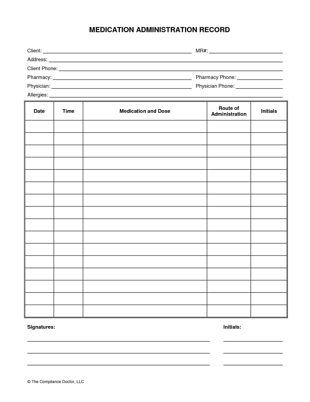 Printable Chart Printable-Medication-Chart-Daily-4 Printable - Free Printable Medication Chart