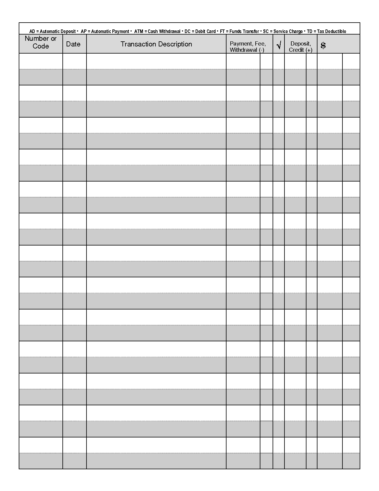 Printable Check Register - When You Are Searching For Coupons They - Free Printable Checkbook Register
