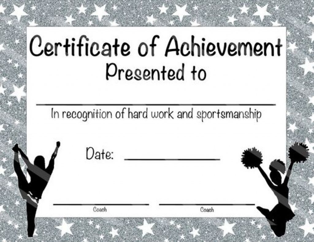 Printable Cheerleading Certificates 178 Best Sports Team Favors And - Free Printable Cheerleading Certificates
