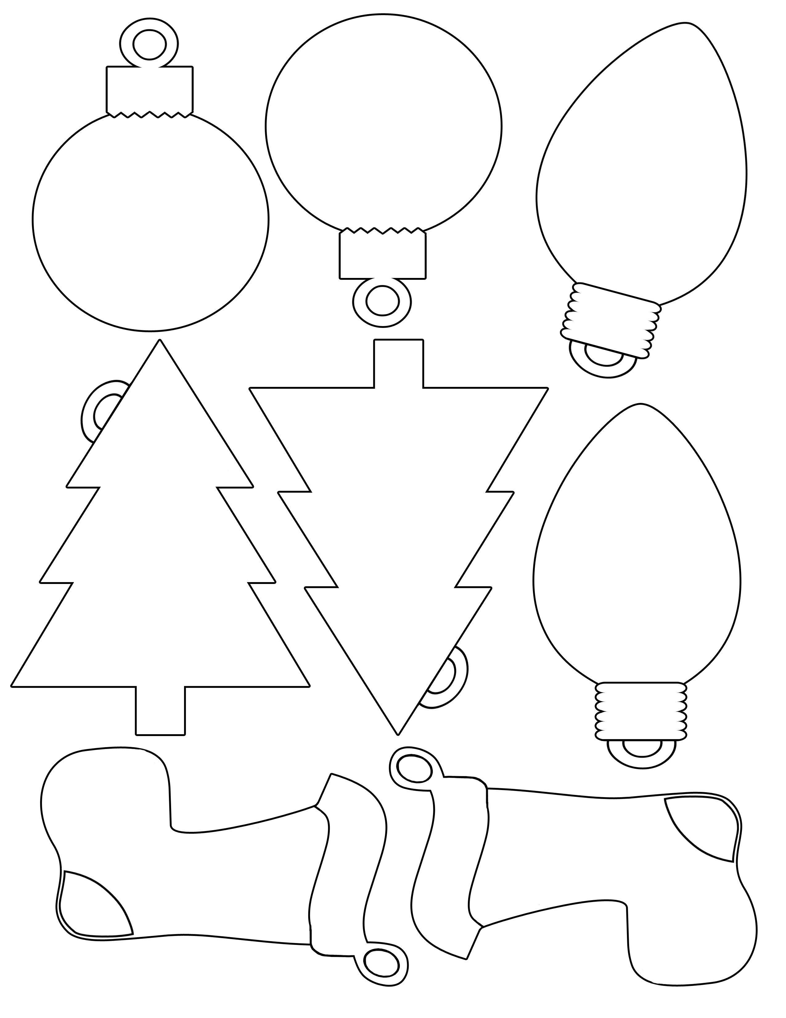 Printable Christmas Envelope |  For Christmas Shapes For Gift - Free Printable Christmas Cutouts