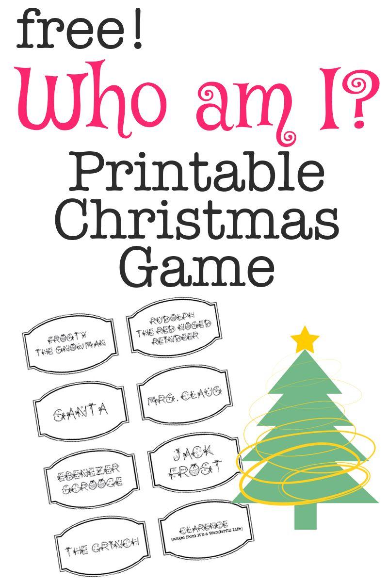 Printable Christmas Game: Who Am I? | Bloggers' Best Diy Ideas - Free Printable Christmas Games For Family Gatherings