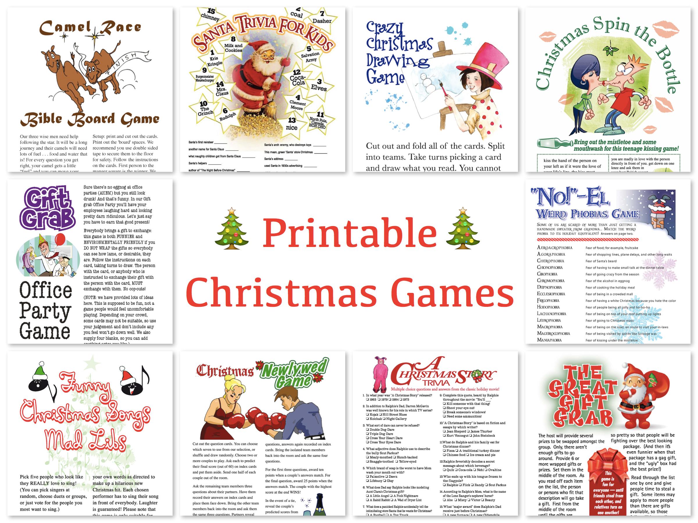 Printable Christmas Games For Family Gatherings – Festival Collections - Free Printable Christmas Games For Family Gatherings