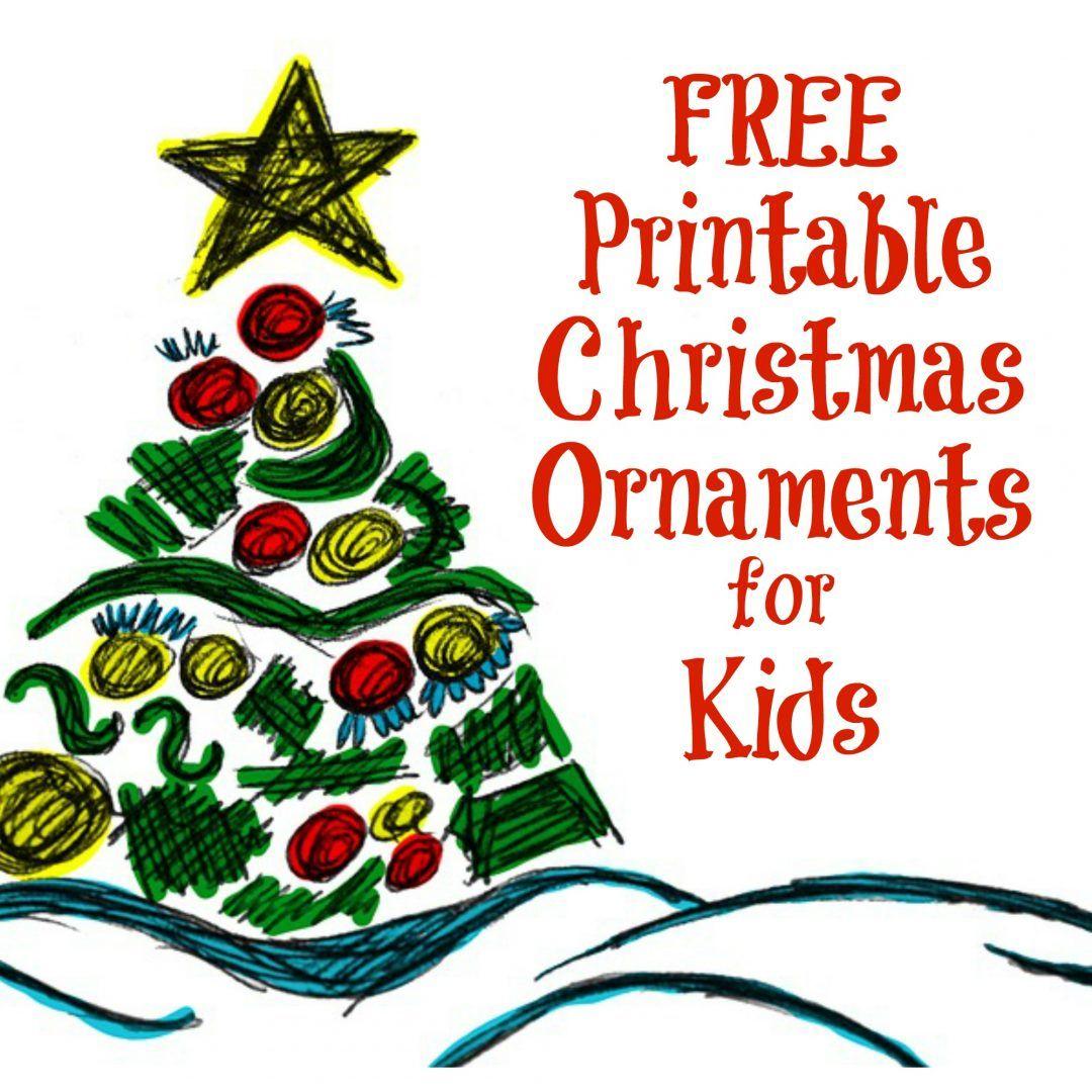 Printable Christmas Ornaments For Kids | Free Printables | Pinterest - Free Printable Christmas Ornaments