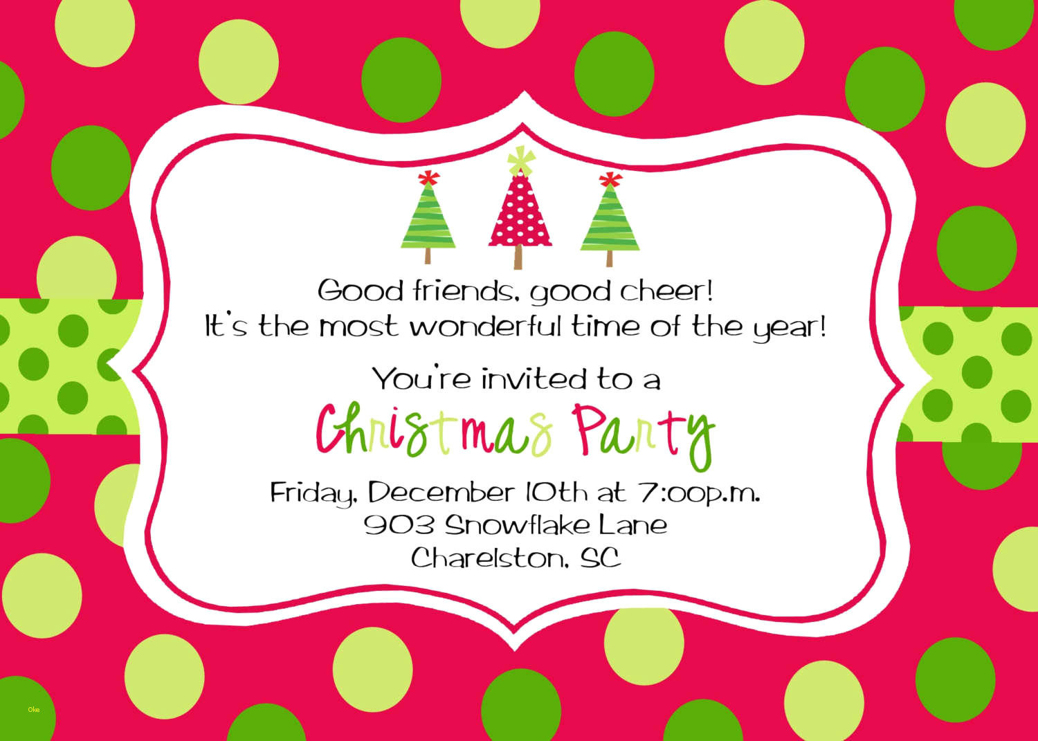Printable Christmas Party Invitations | Download Them Or Print - Free Printable Christmas Party Invitations