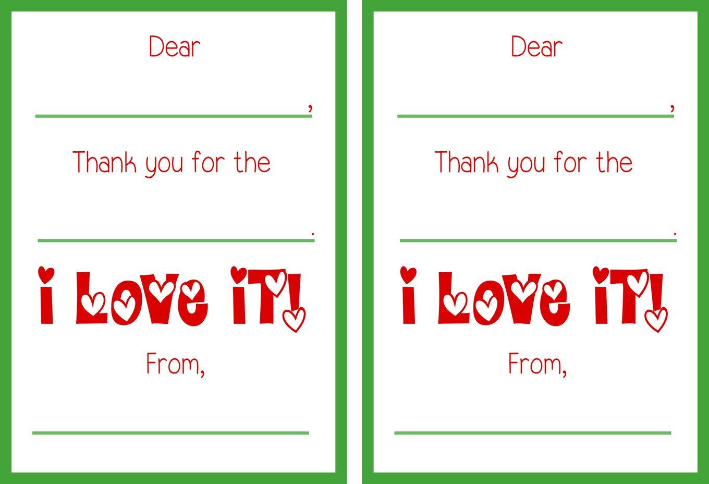 Printable Christmas Thank You Cards - Free Printable Thank You Cards
