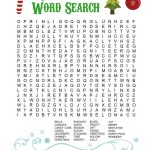 Printable Christmas Word Search For Kids & Adults   Happiness Is   Free Printable Christmas Word Search