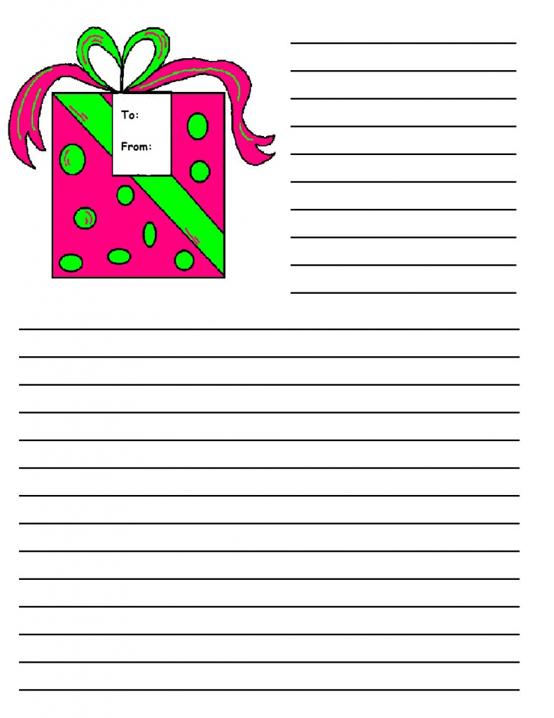 Printable Christmas Writing Paper Templates | Printable Christmas - Free Printable Christmas Writing Paper With Lines