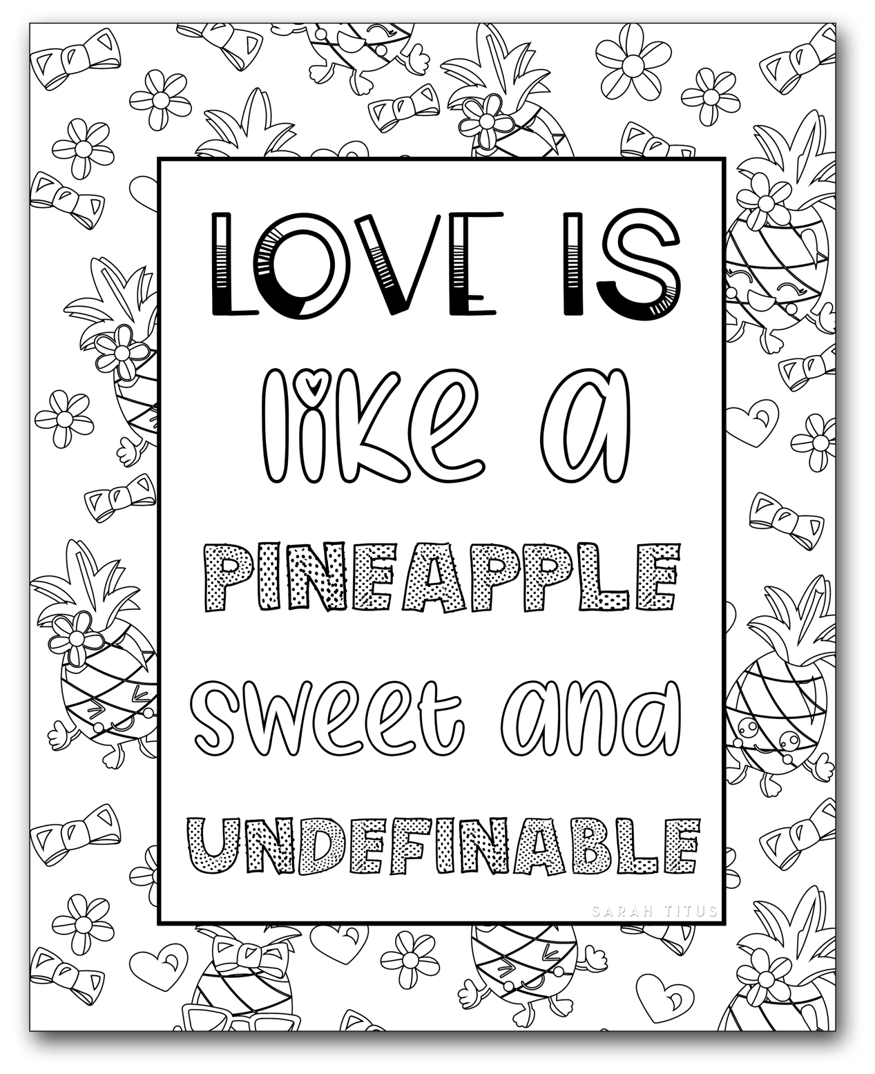 Printable Coloring Pages For Girls - Sarah Titus - Free Printable Coloring Pages For Teens