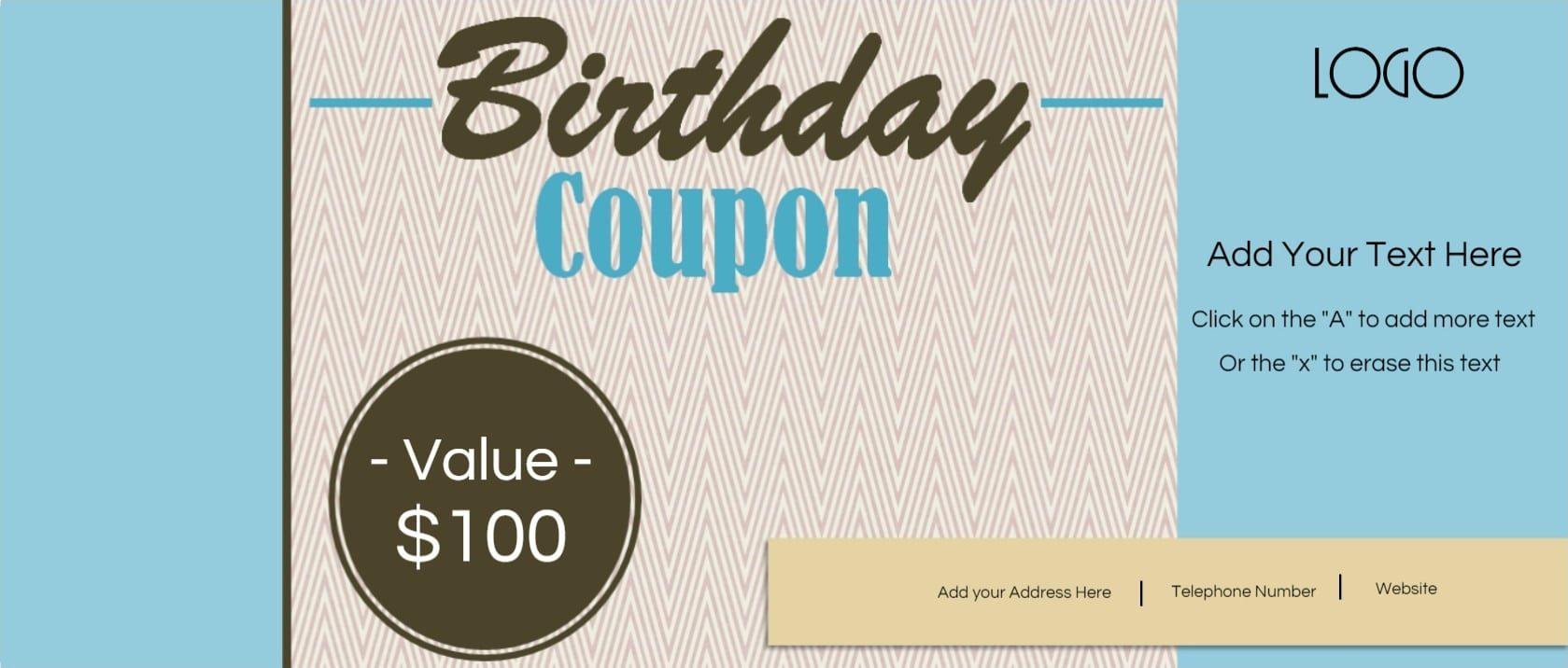 Printable Coupon Book Template | Flogfolioweekly Free Pics - Free Printable Blank Birthday Coupons