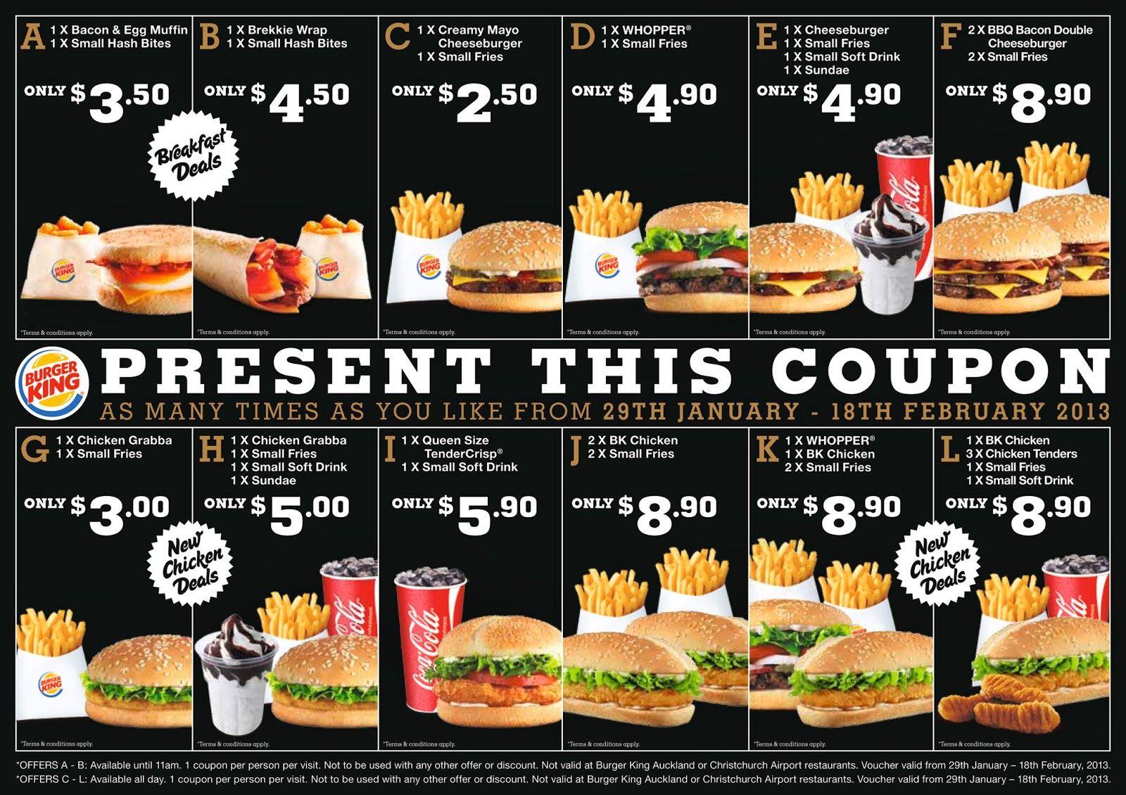 Printable Coupons: Burger King Coupons… | Burger King | Pinterest - Burger King Free Coupons Printable