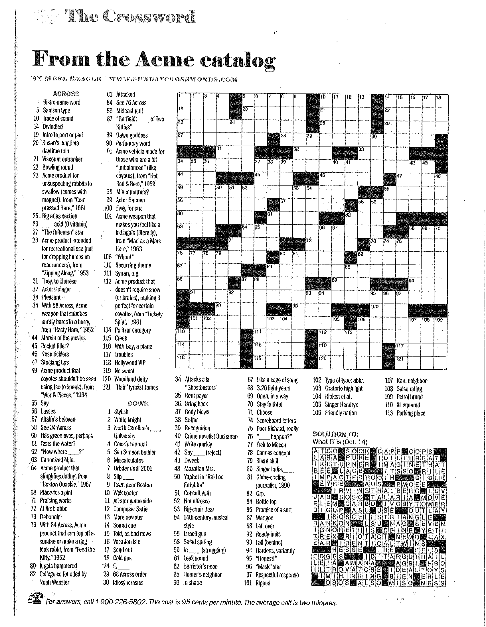 Printable Crossword Puzzles Merl Reagle | Download Them Or Print - Merl Reagle's Sunday Crossword Free Printable