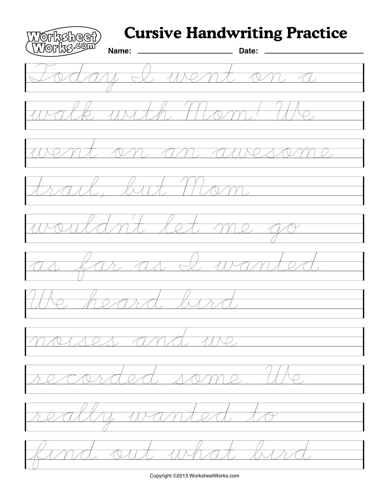 Printable Cursive Name Sheets Cursive Name Worksheets Cursive - Free Printable Cursive Handwriting Worksheets