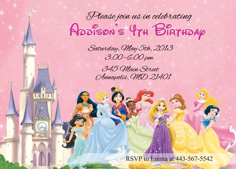 Printable Disney Birthday Invitations Printable Disney Birthday - Free Printable Disney Invitations
