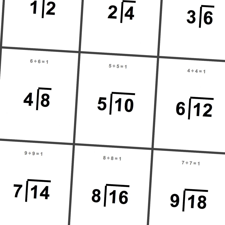 Printable Division Flashcards! | Math Worksheets | Math Worksheets - Free Printable Division Flash Cards