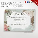 Printable Diy French Country Wedding Website Card Template   Free Printable Enclosure Cards