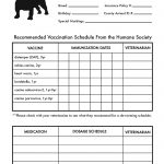 Printable Dog Shot Record Forms | Dog Shot Record | Dog Shots, Dog   Free Printable Pet Health Record