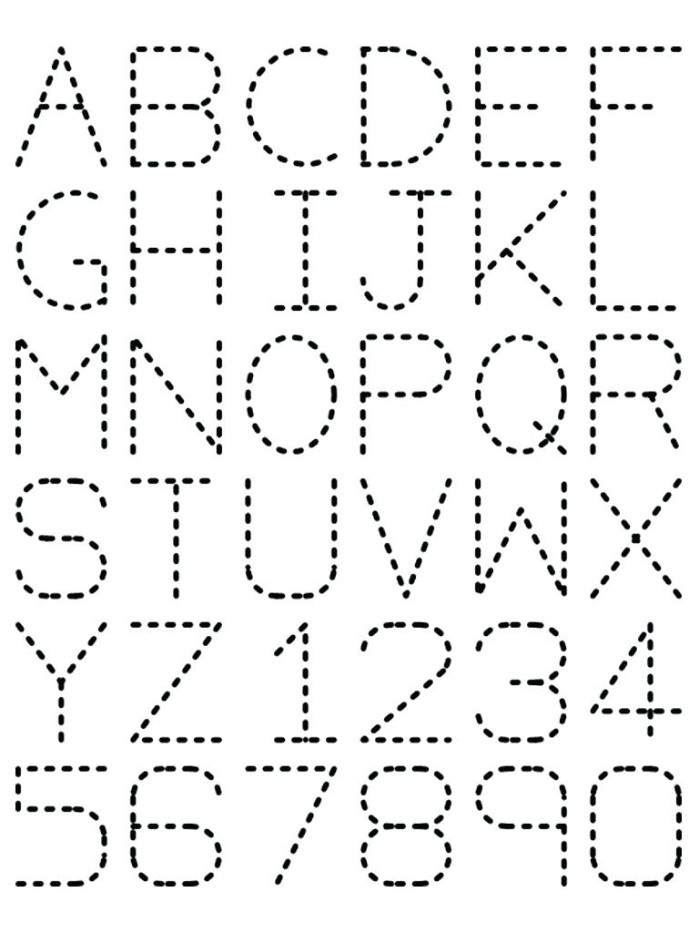 Printable Dotted Letters Free Printable Traceable Letters For - Free Printable Traceable Letters