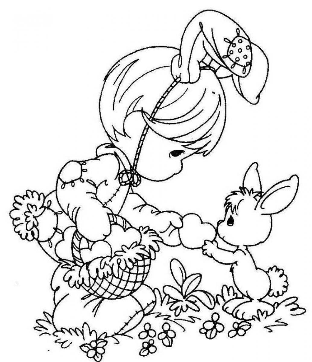 Printable Easter Coloring Pages Free Scott Fay On Free Happy Easter - Free Printable Easter Coloring Pictures
