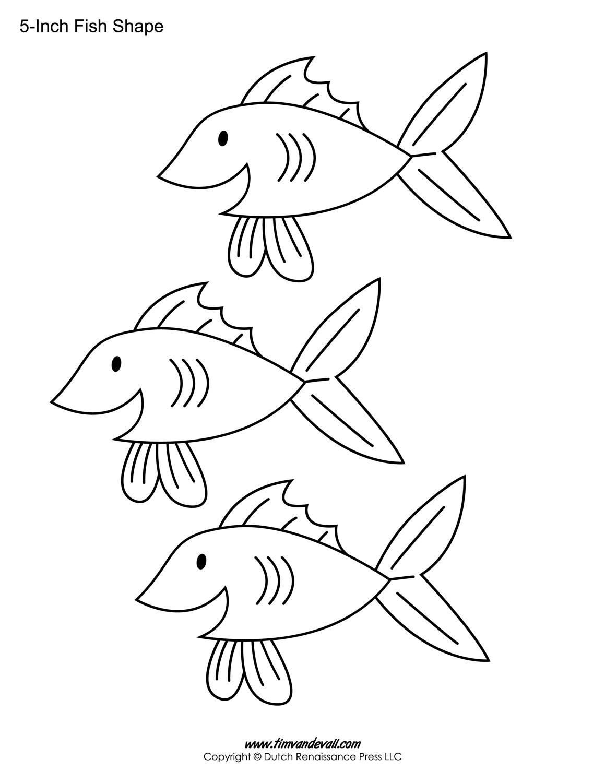 Printable Fish Templates For Kids | Preschool Fish Shapes - Free Printable Fish Stencils