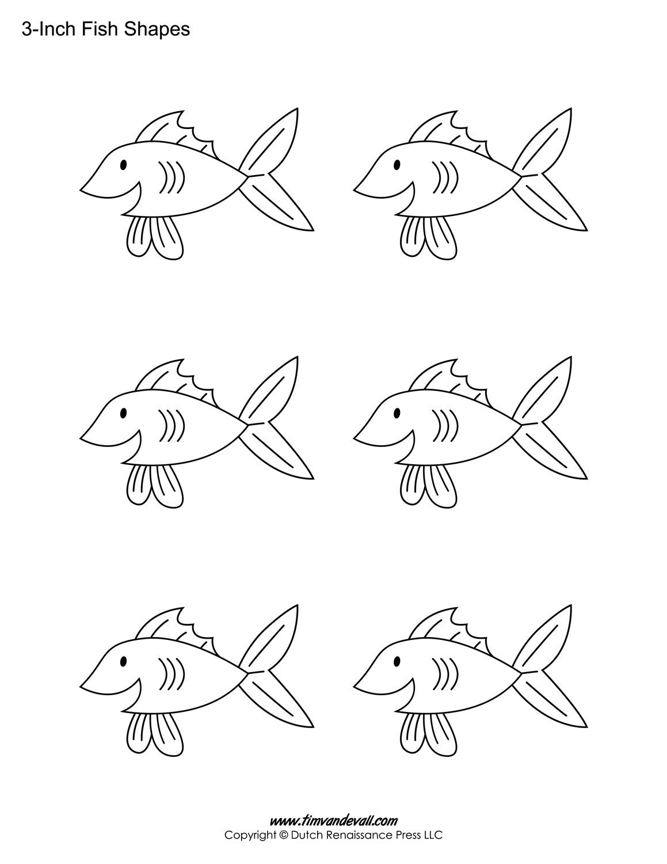 Printable Fish Templates For Kids   Preschool Fish Shapes - Free Printable Fish Stencils