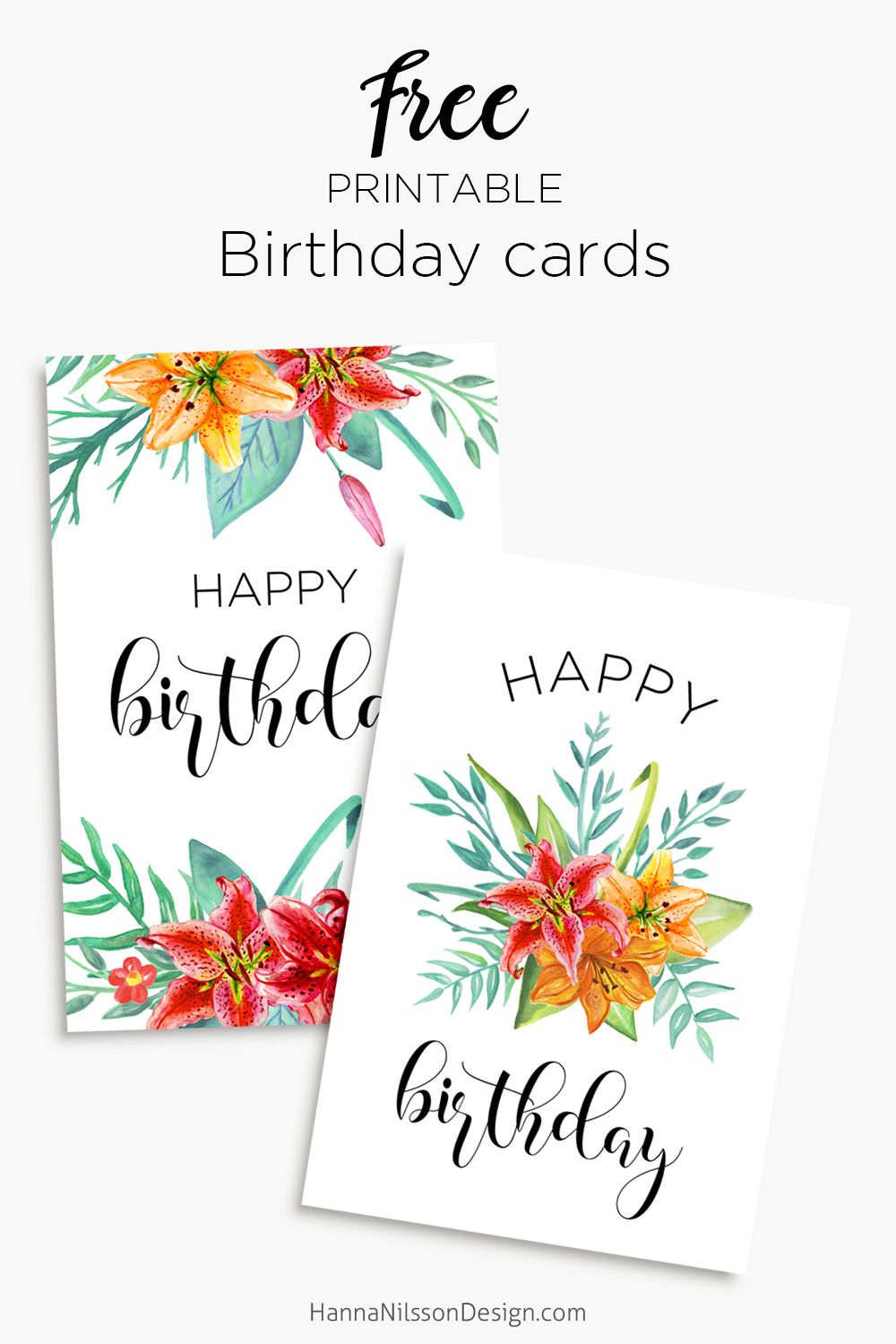 Printable Floral Birthday – Cards, Tags & Gift Box   General   Free - Free Printable Birthday Cards For Mom