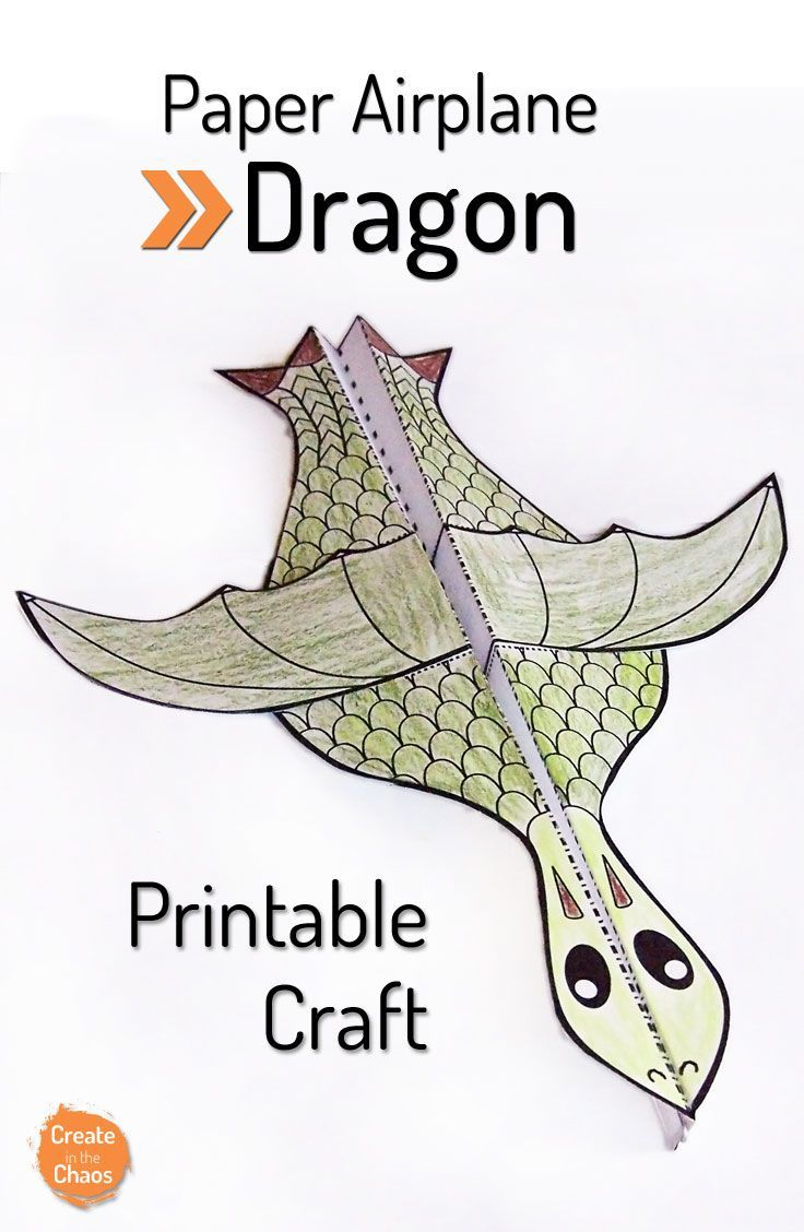 Printable Flying Dragon Craft | Unit Ideas: Medieval Times (Knights - Free Printable Crafts For Preschoolers