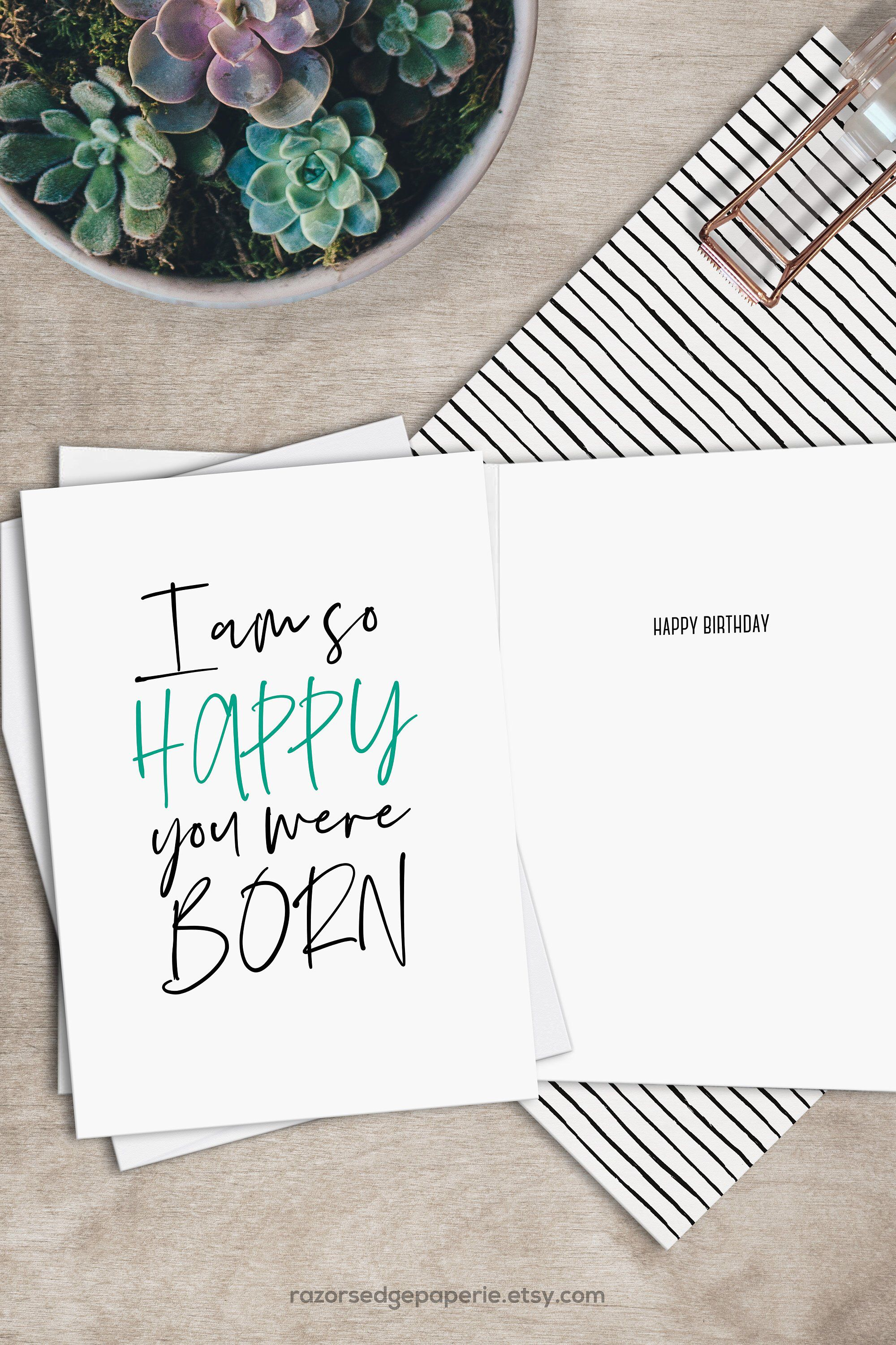 Printable Funny Birthday Card Instant Download Digital Greeting Card - Free Printable Funny Birthday Cards For Adults