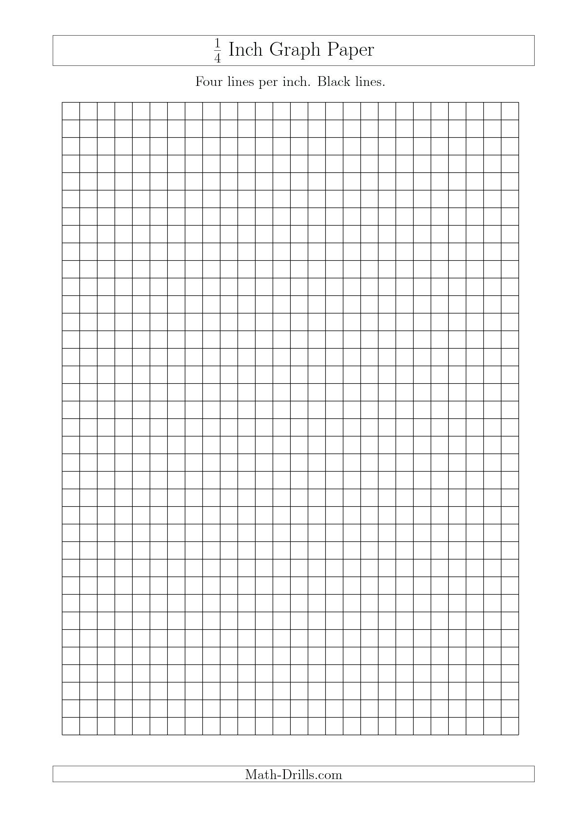 Printable Graph Paper 1 4 Inch Math 1 4 Grid Paper Printable Print - Free Printable Graph Paper 1 4 Inch