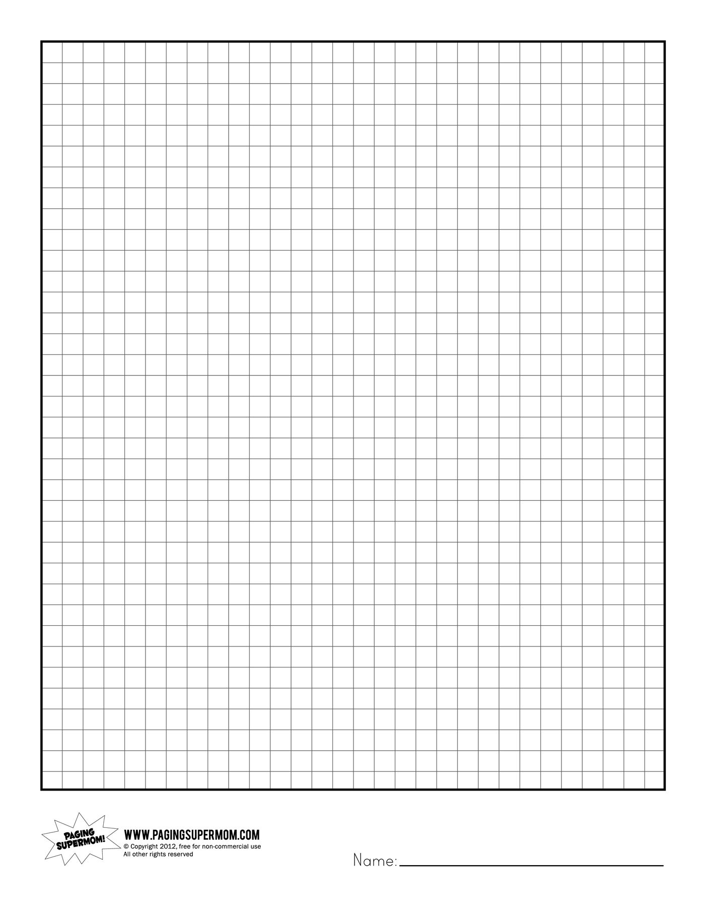 Printable Graph Paper | Healthy Eating | Printable Graph Paper - Free Printable Grid Paper