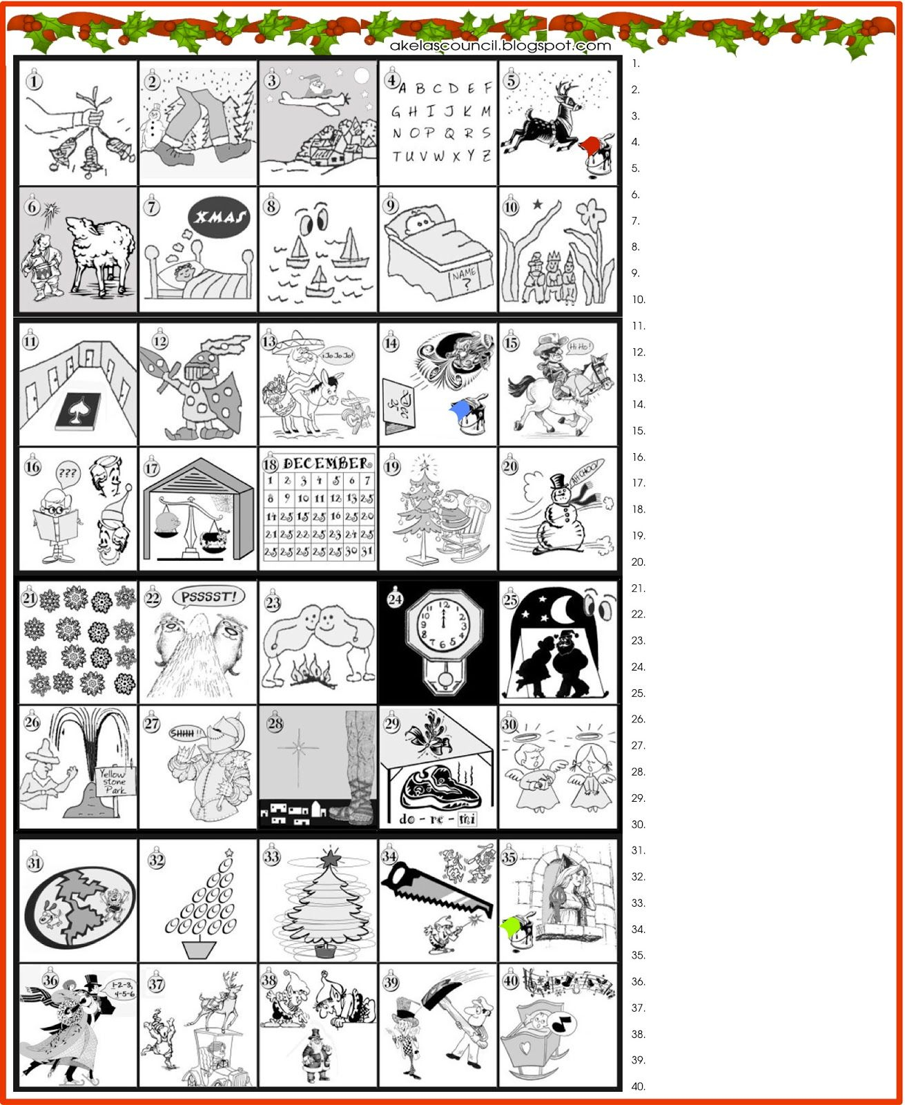 Printable * Guess The Christmas Songs Or Carols Word Puzzle - Free Printable Christmas Games And Puzzles