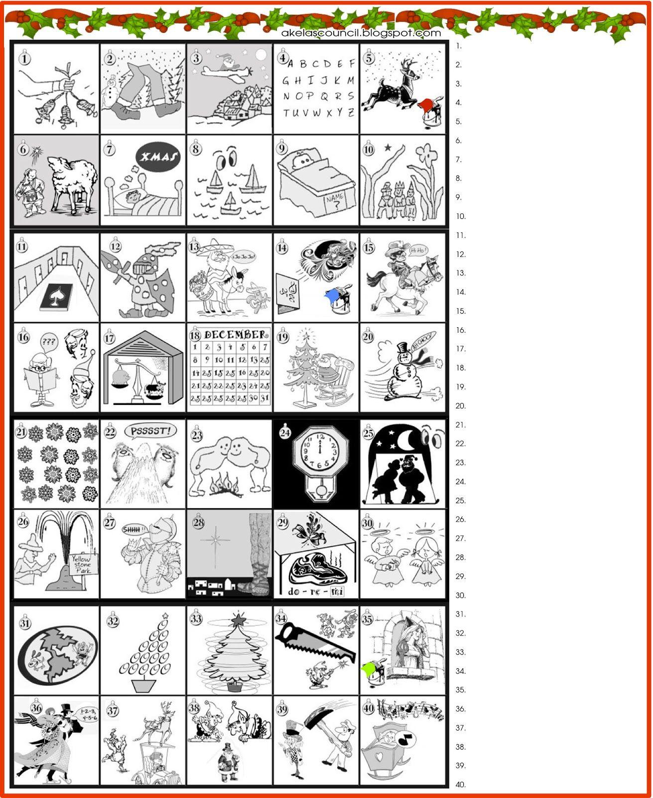 Printable * Guess The Christmas Songs Or Carols Word Puzzle - Free Printable Christmas Puzzles And Games