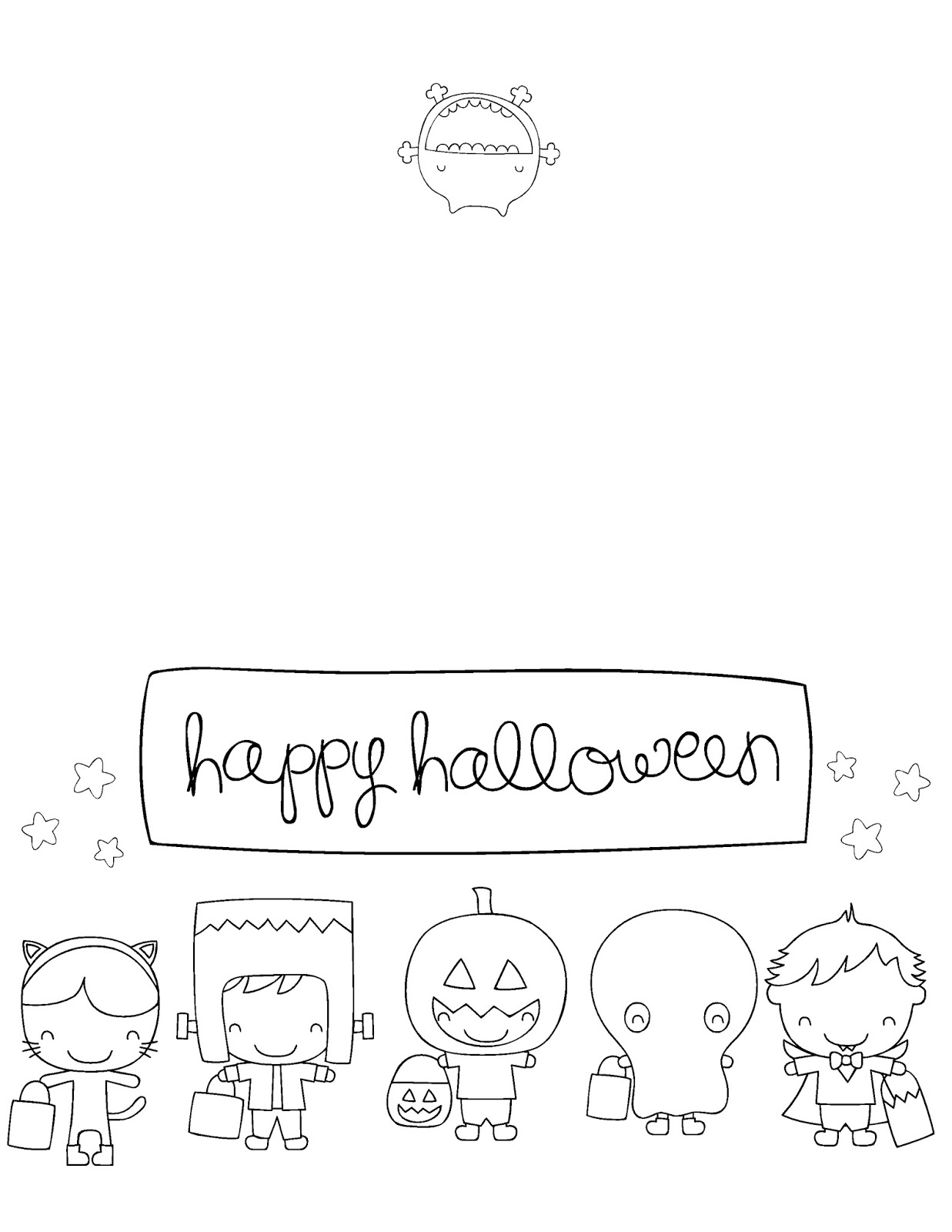 Printable Halloween Cards To Color For Free | Download Them Or Print - Printable Halloween Cards To Color For Free